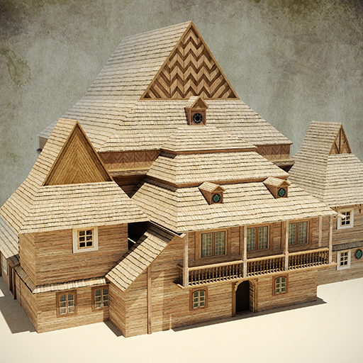 model 3d synagogi synagogue Chodorów
