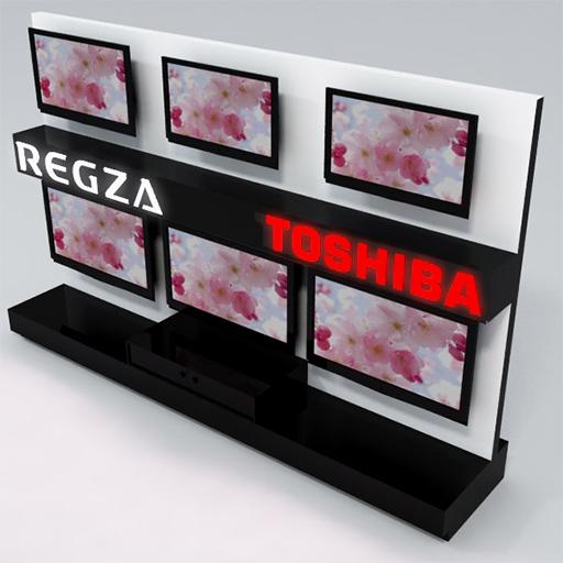 Model 3d stoisko Toshiba