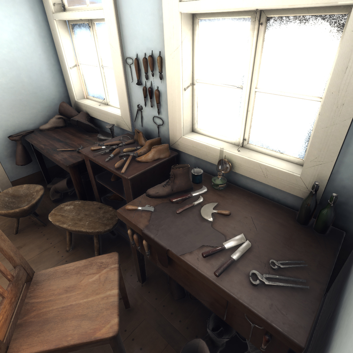 3d historical reconstruction, Fawka house, visualisation