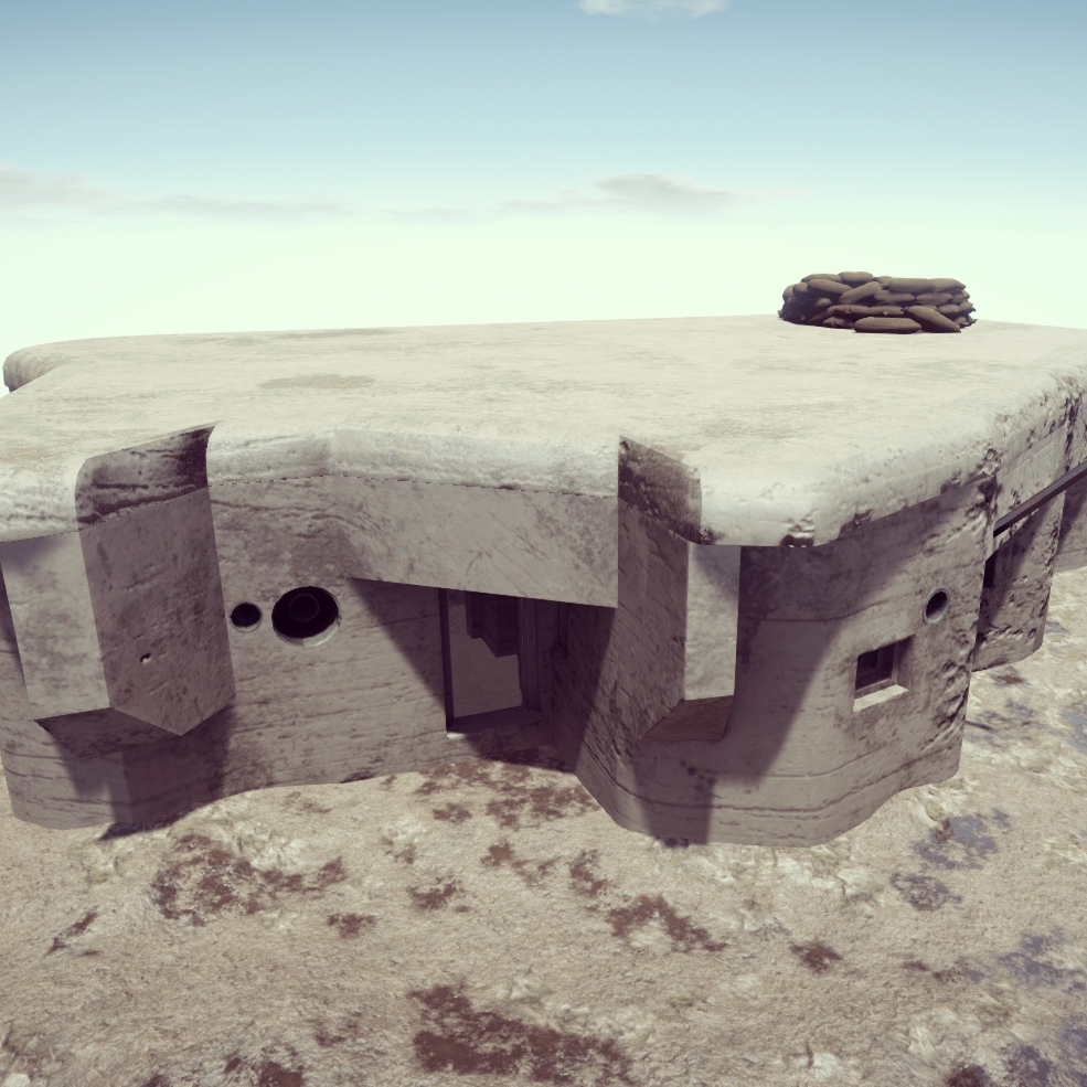 concrate pillbox world war II