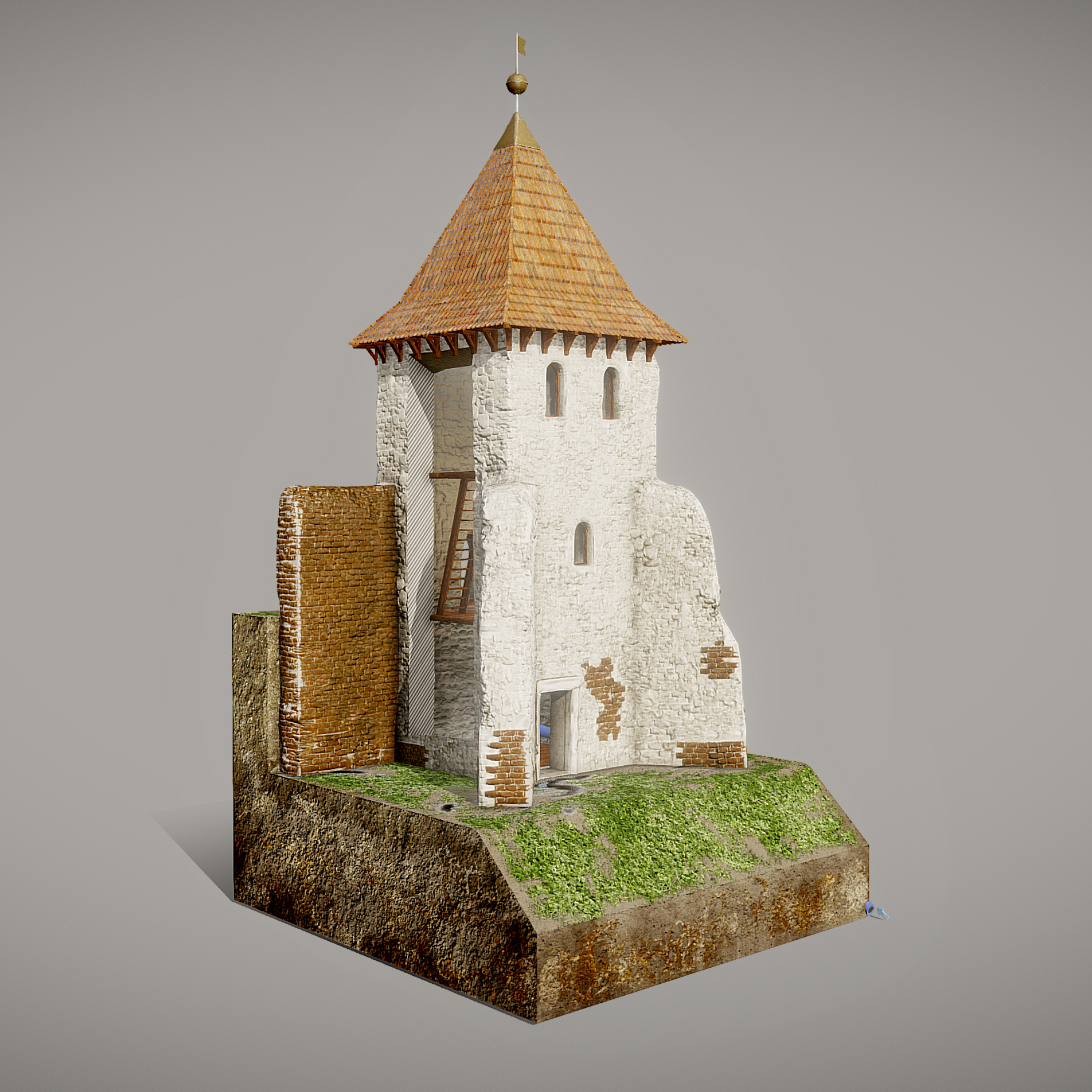 reconstruction historical 3d model print